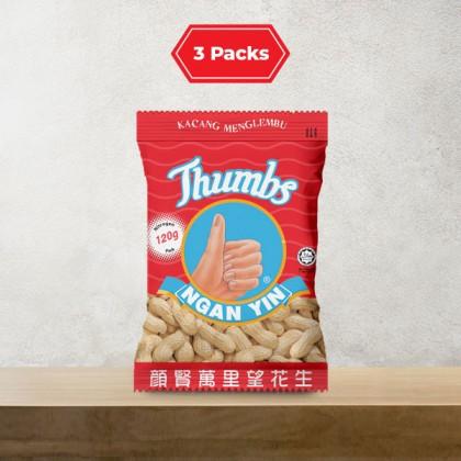 3 x 120g THUMBS Roasted Groundnut