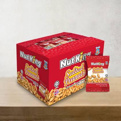 36 X 12g Nut King Salted Peanut Packs