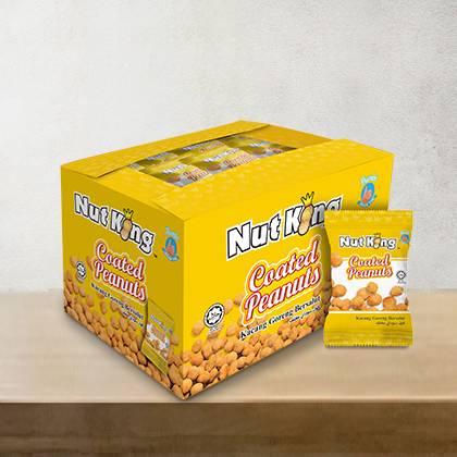 36 x 12g Nut King Coated Peanut Packs