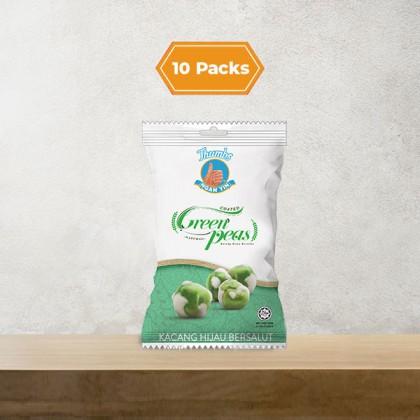 10 x 40g THUMBS Coated Green Pea Packs