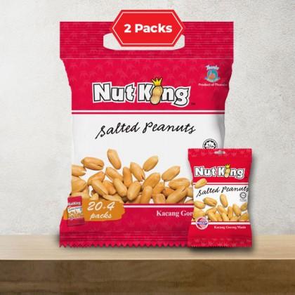 24 x 12g (2 Packs) Nut King Salted Peanut
