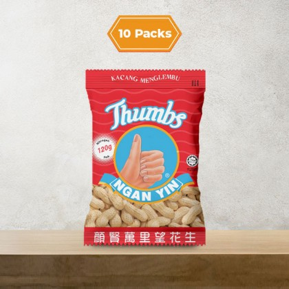 10 x 120g THUMBS Roasted Groundnut