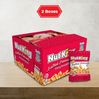 36 x 12g (2 Boxes) Nut King Salted Peanut