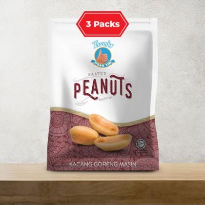 3 x 130g of THUMBS Salted Peanut