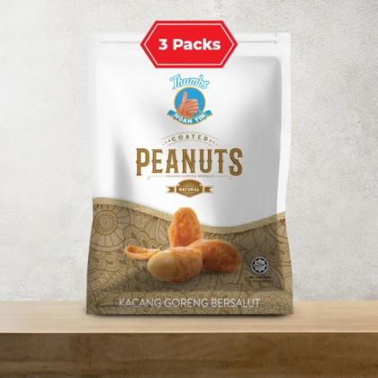 3 x 130g of THUMBS Coated Peanut