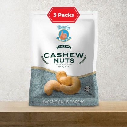 3 x 120g of THUMBS Salted Cashew Nut